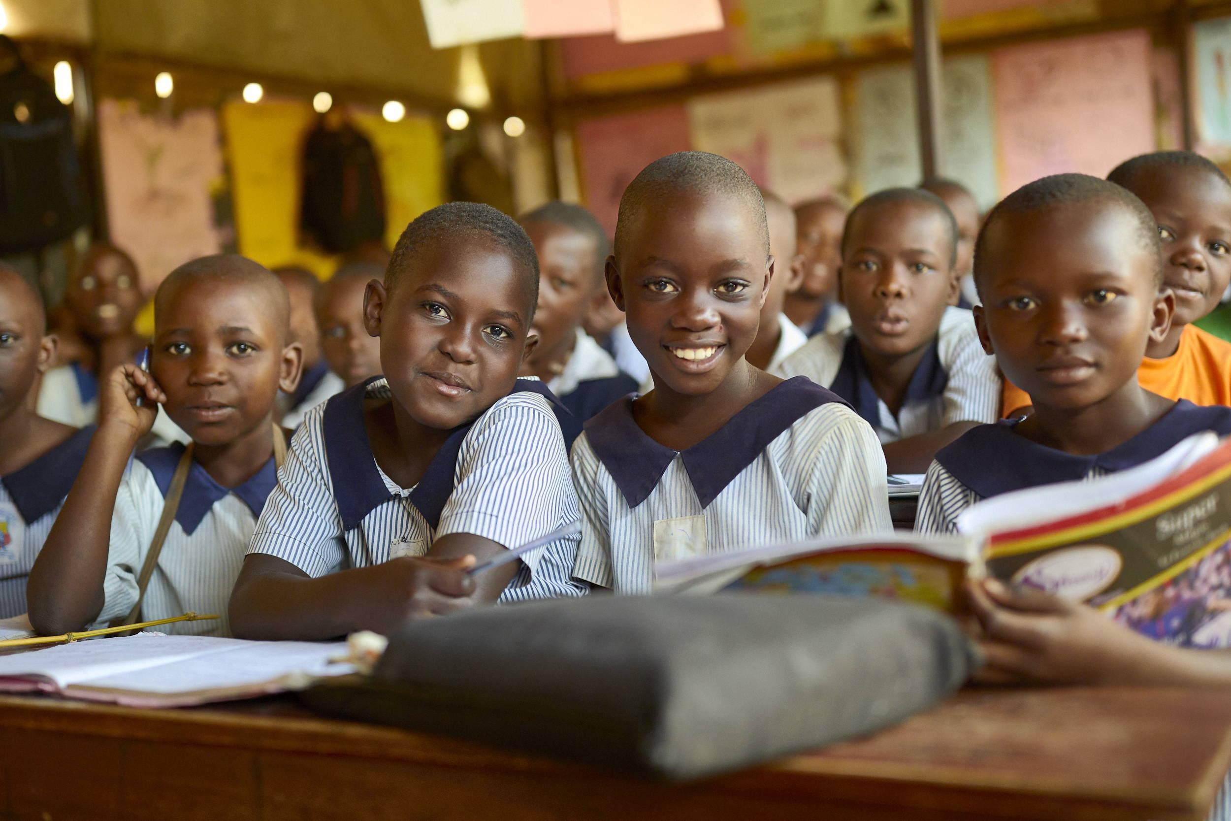 Children in school.