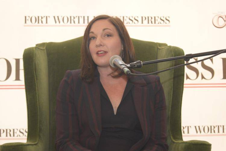 Elyse Dickerson speaking at Fort Worth Business Press