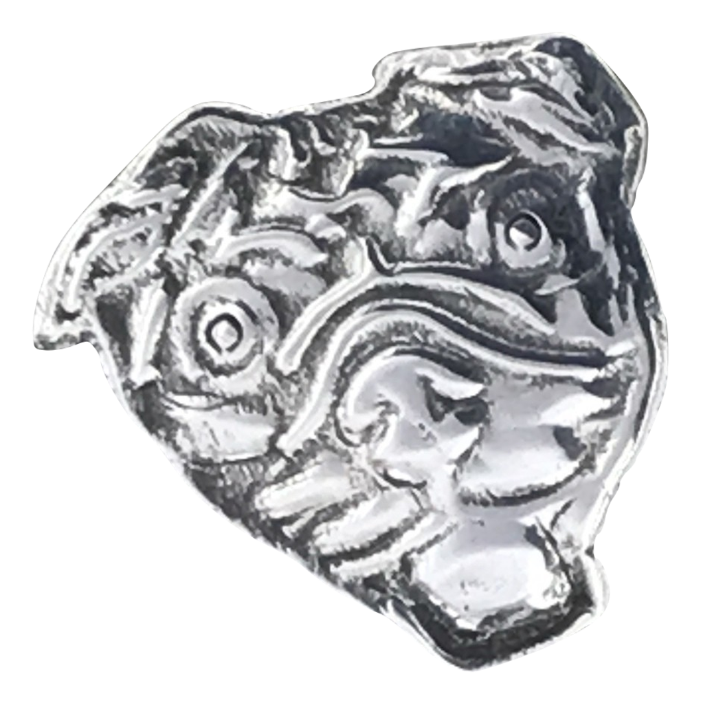 sterling silver custom pug pendant