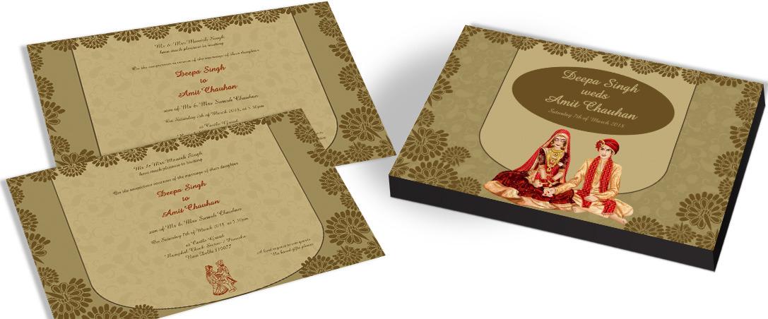 Hindu Wedding Invitation Chococraft