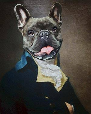dog colonial costume