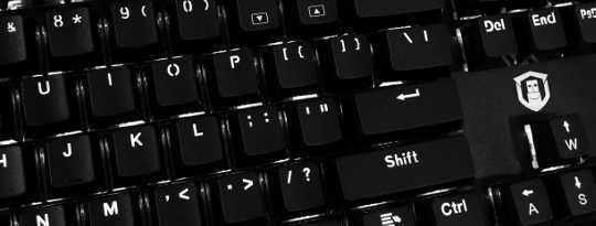 Close up of keys on keyboard