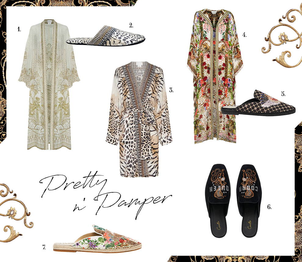 Pretty 'n' Pamper   CAMILLA robes and slippers