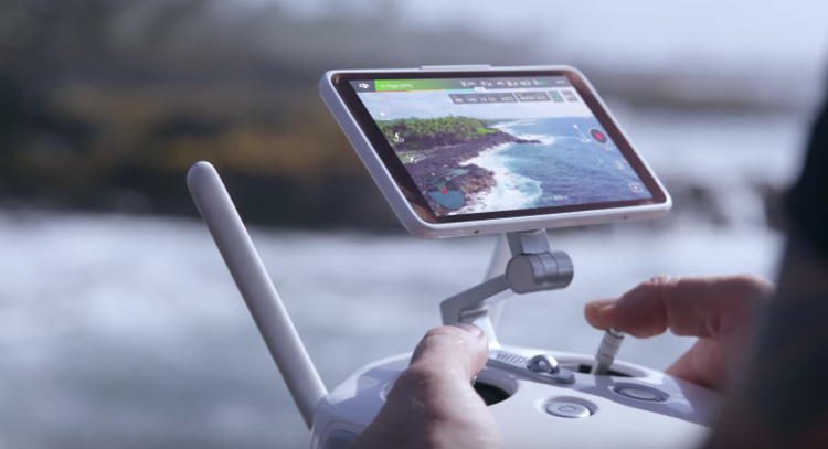 Users can perfect their shots thanks to DJI's Lightbridge technology