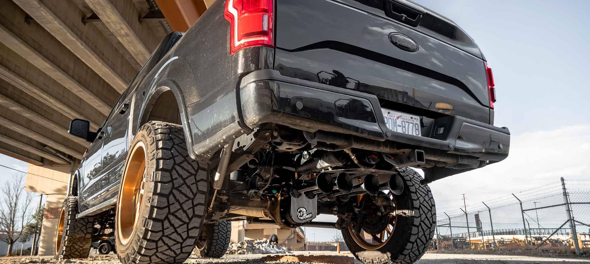 Spare Tire Delete Dual Tank Install