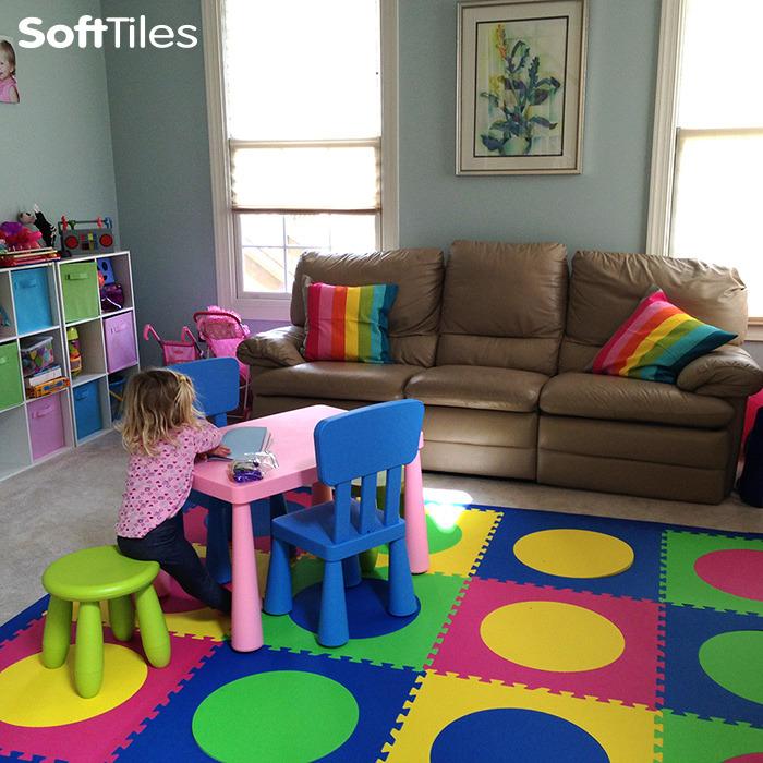 SoftTiles Colorful Circles EVA Foam Play Mat