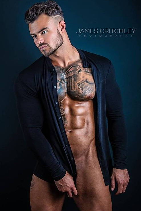 It's About The Man | George RJ by James Critchley Photography | Naked Model, Male Model, Tattooed Male Model, Male Abs, Shirtless Model