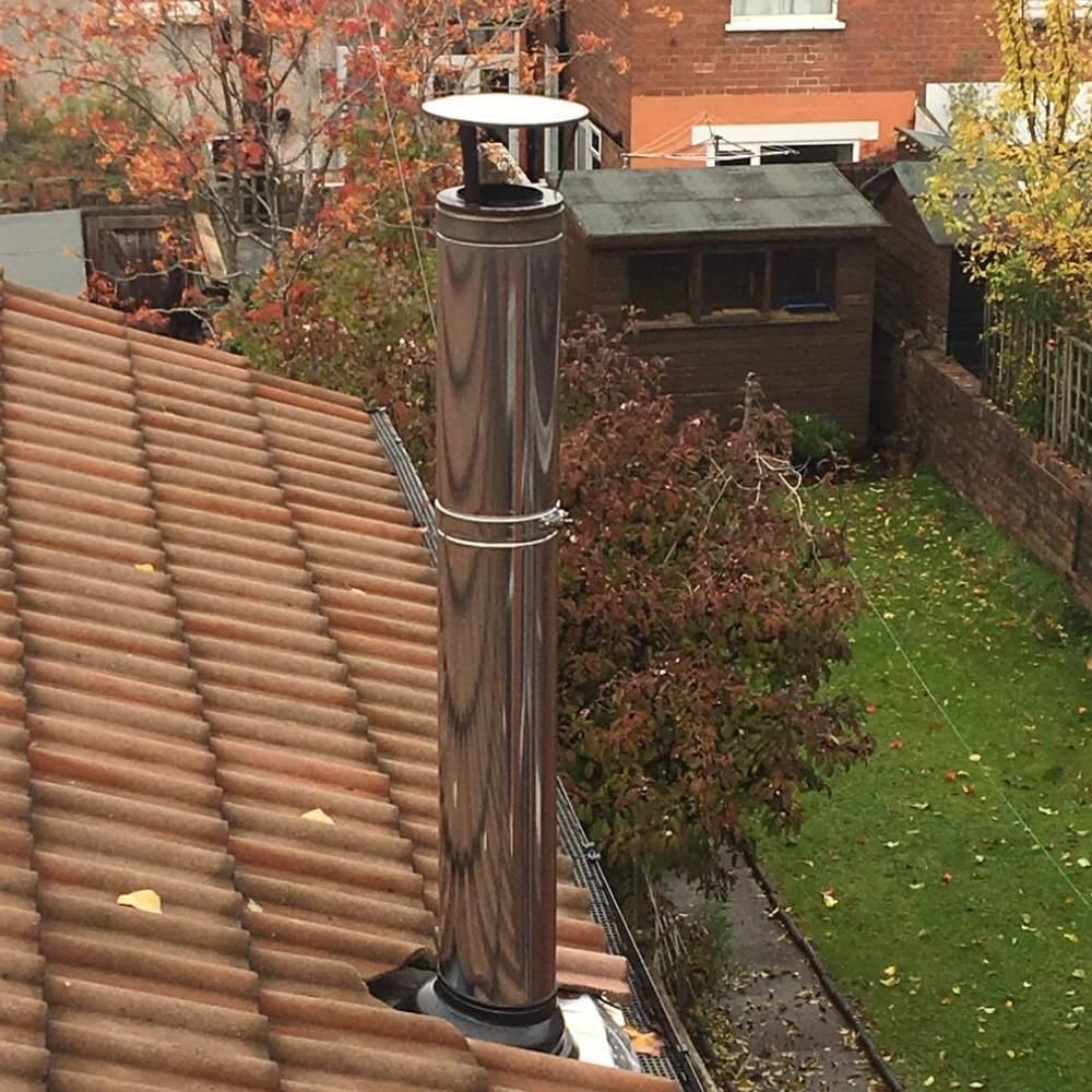 Metal clip trogether chimney