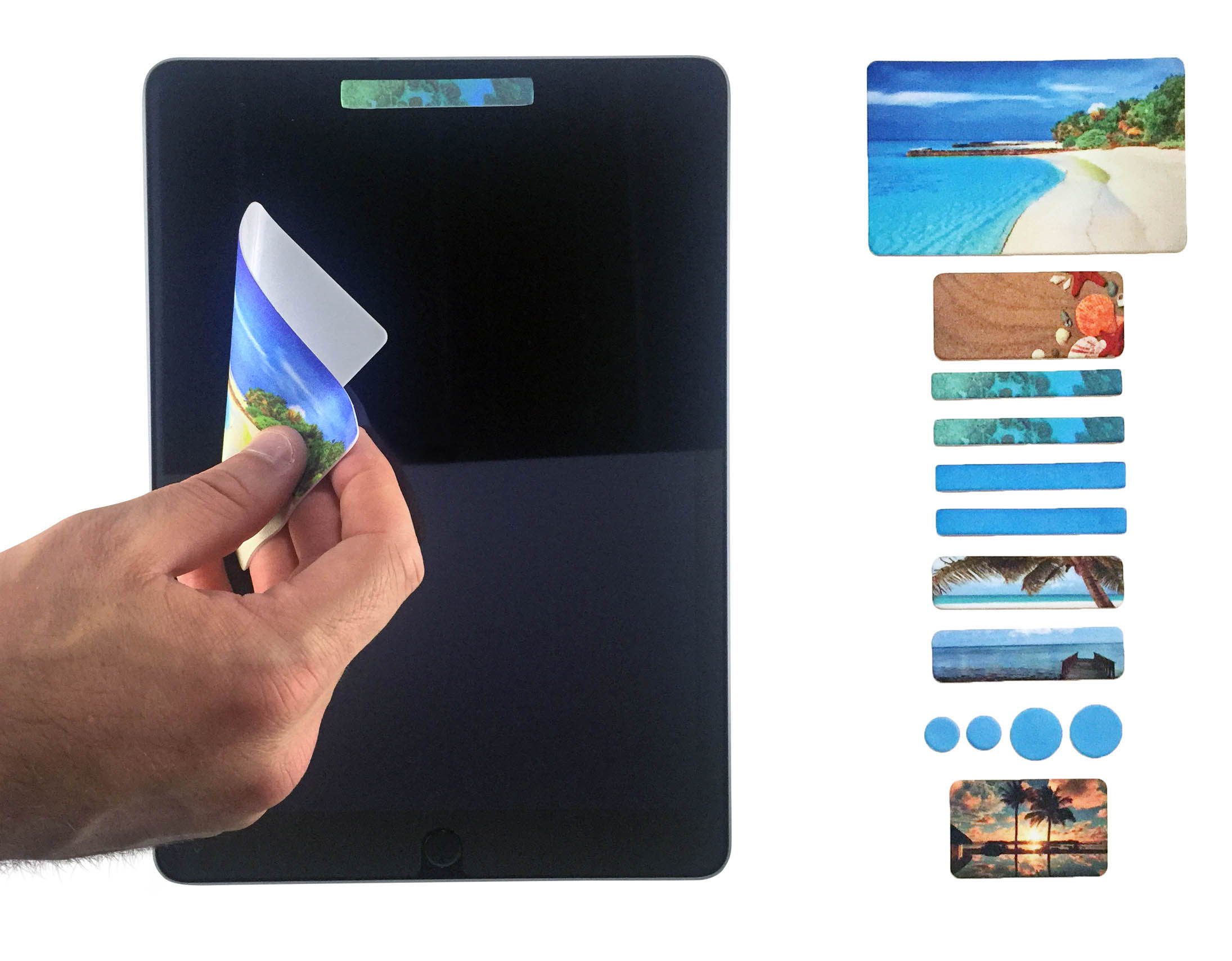webcam cover on an ipad or tablet includes 12 different sizes of webcam cover