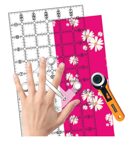 Handle / Multi-Widths Ruler Connector by Guidelines4Quilting