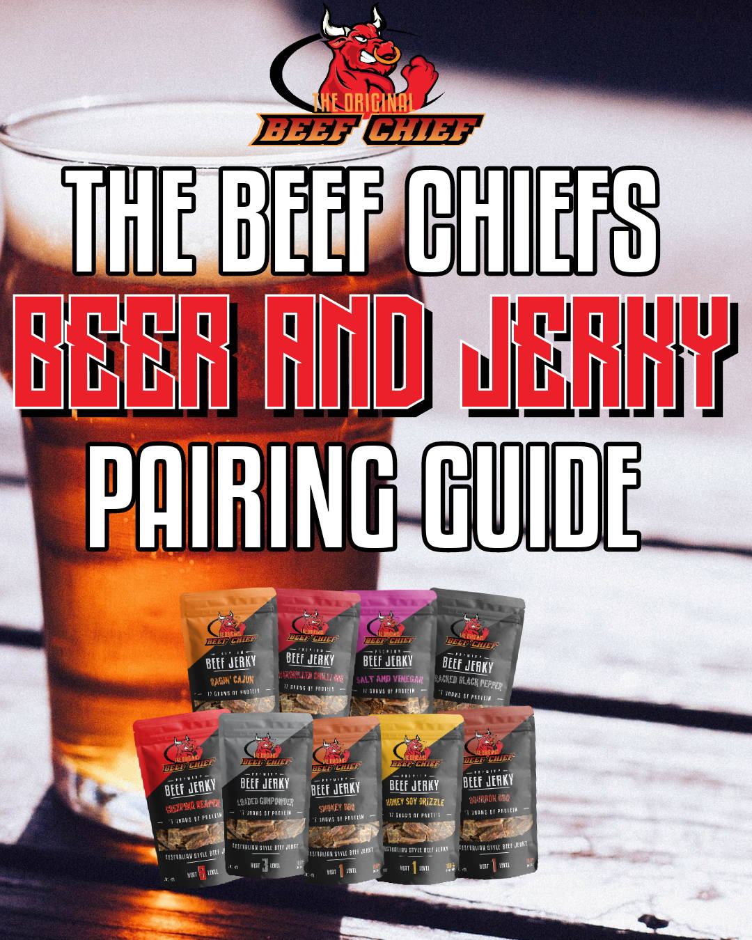 Beef Chiefs Beer and Jerky Pairing Guide