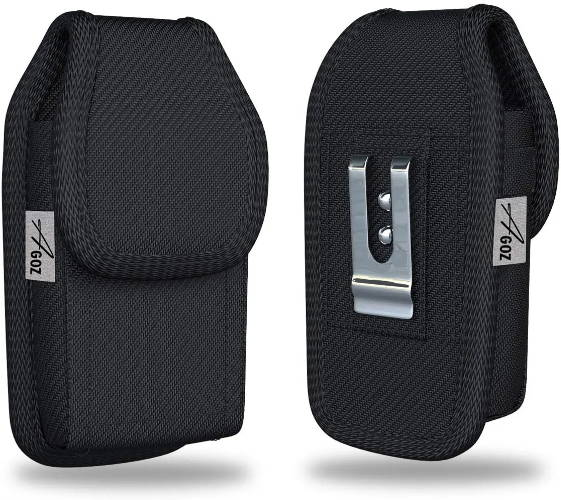 Kyocera DuraXV Extreme Flip Phone Canvas Case with Metal Belt Clip