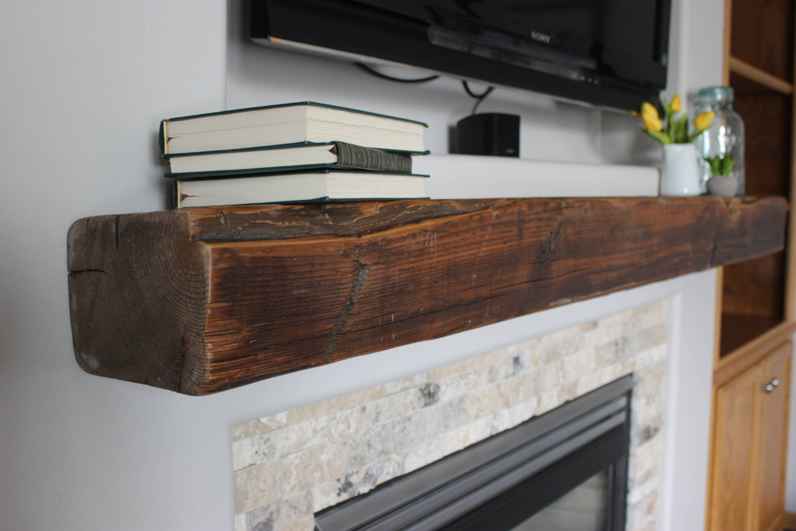 Natural Patina Mantel  - Finished (Clear Coat)