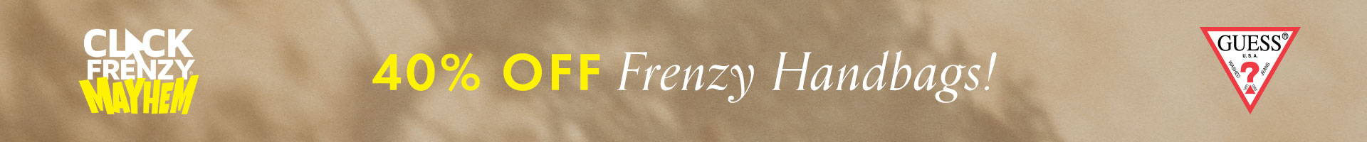Guess Click Frenzy 40% off Sale Handbags