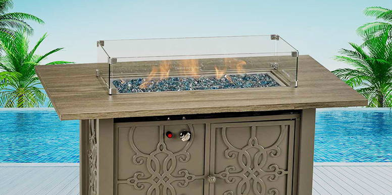GAS FIRE TABLES by PATIO RESORT LIFESTYLES