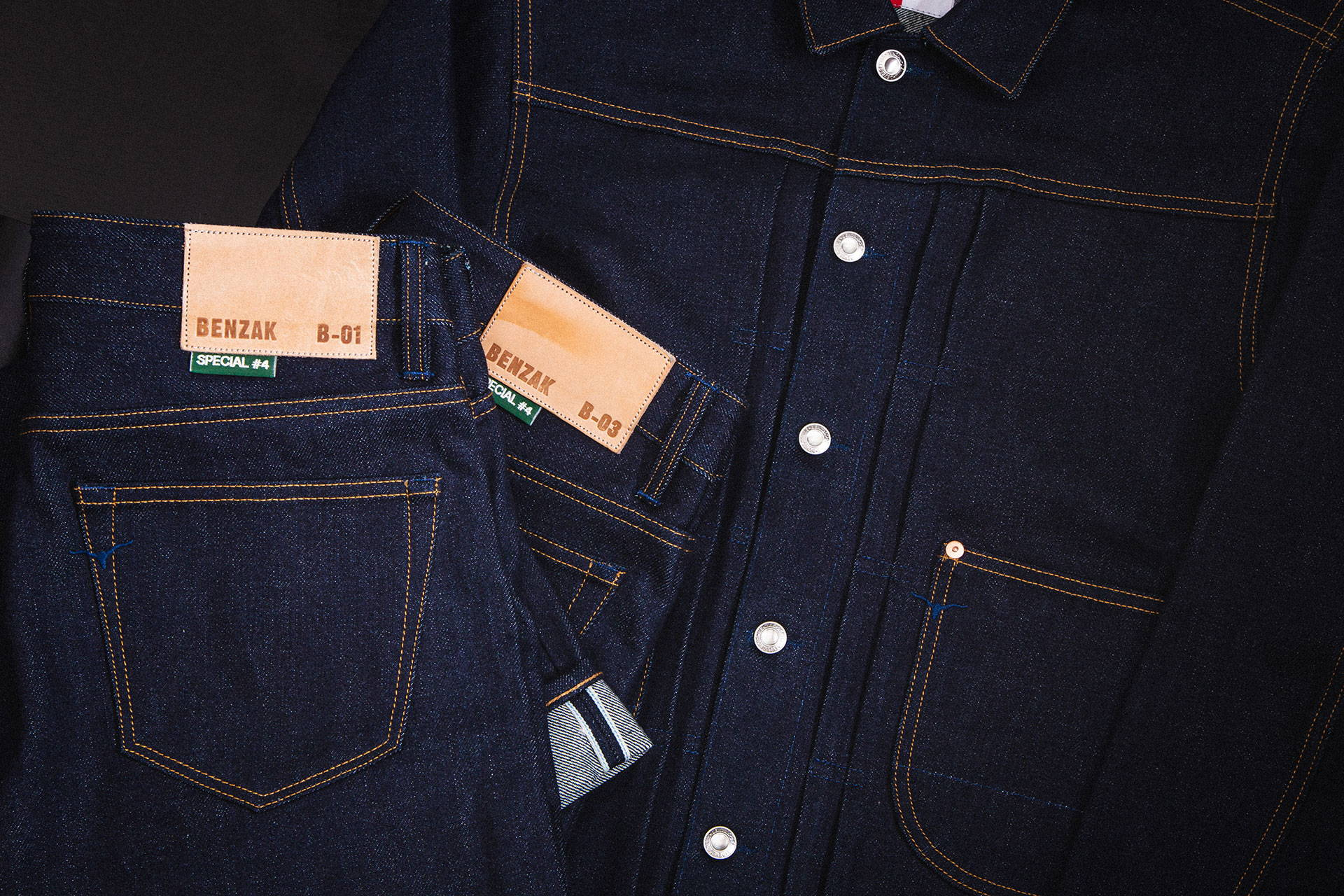BENZAK | special #4 | SELVEDGE | RAW DENIM | DEEP INDIGO | 18.5 oz | JEANS | COWBOY JACKET