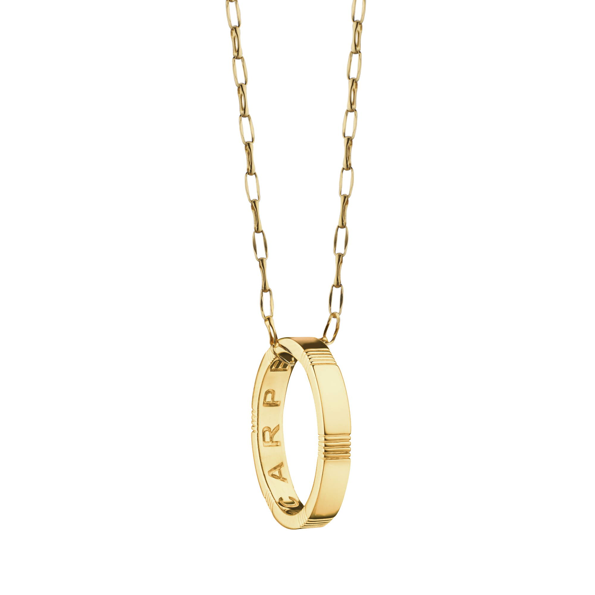 Carpe Diem Poesy Ring Necklace