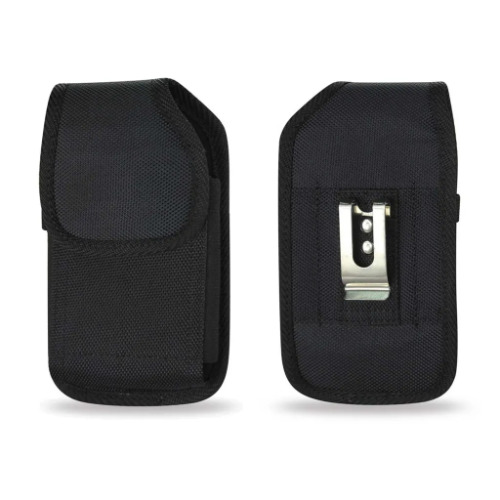 alcatel myflip flip Canvas Case Holster Pouch with Metal Belt Clip