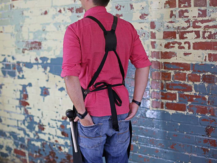 Comfortable woodworking apron