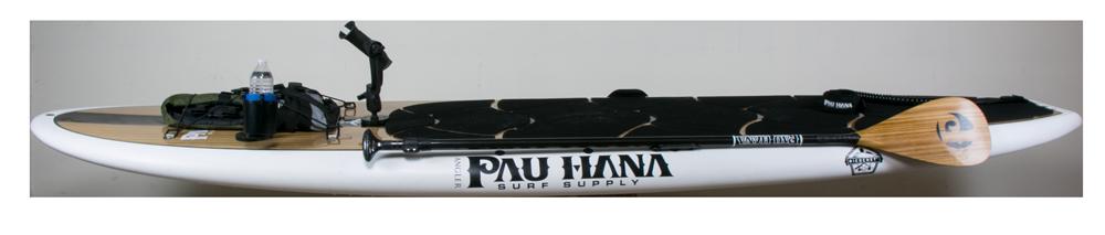 Big EZ Angler rigged out with the Pau Hana sup fishing kit
