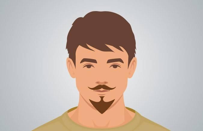 VAN DYKE BEARD - A full goatee with detached mustache