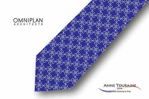 Geometric-patterned-custom-logo-ties-bow-ties-design-style-blue