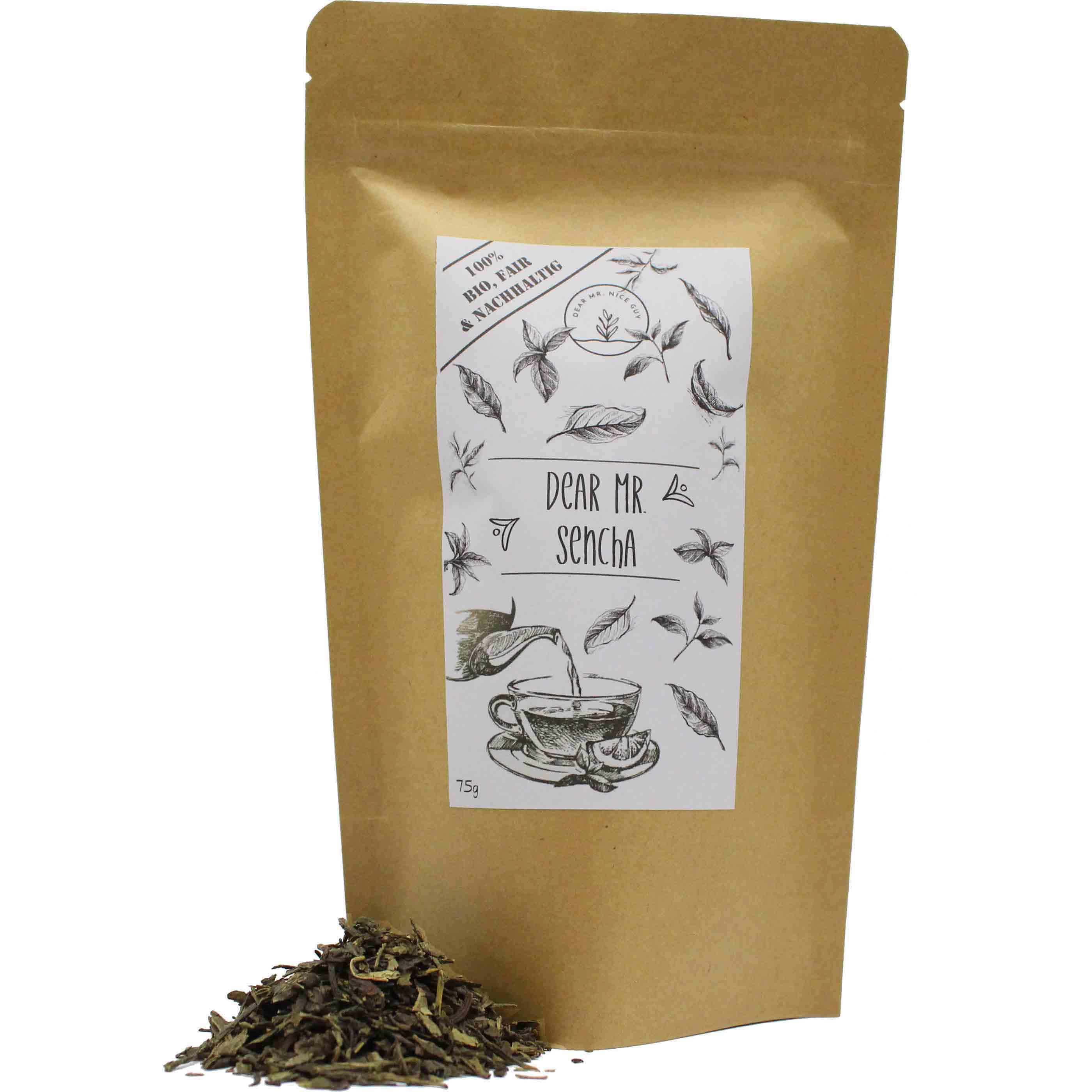 Grüner Bio Tee Verpackung 75g