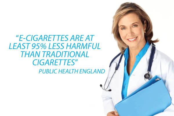 Des experts de la santé réputés affirment désormais que les cigarettes électroniques sont au moins 95% moins nocives que le tabac traditionnel
