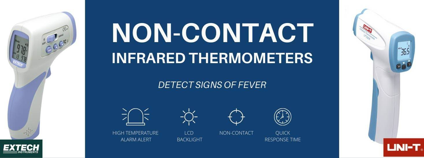 Digital Infrared (IR) Forehead Thermometers from Leading Brands, Extech and UNI-T