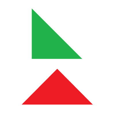 About half and quarter square triangles