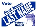 Political Campaign Sign Template #0046