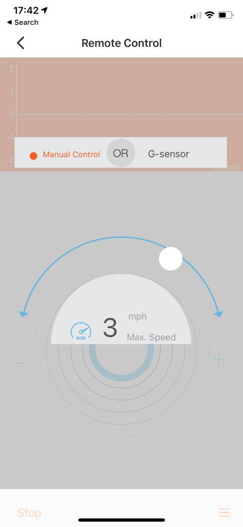 InMotion App screenshot remote control