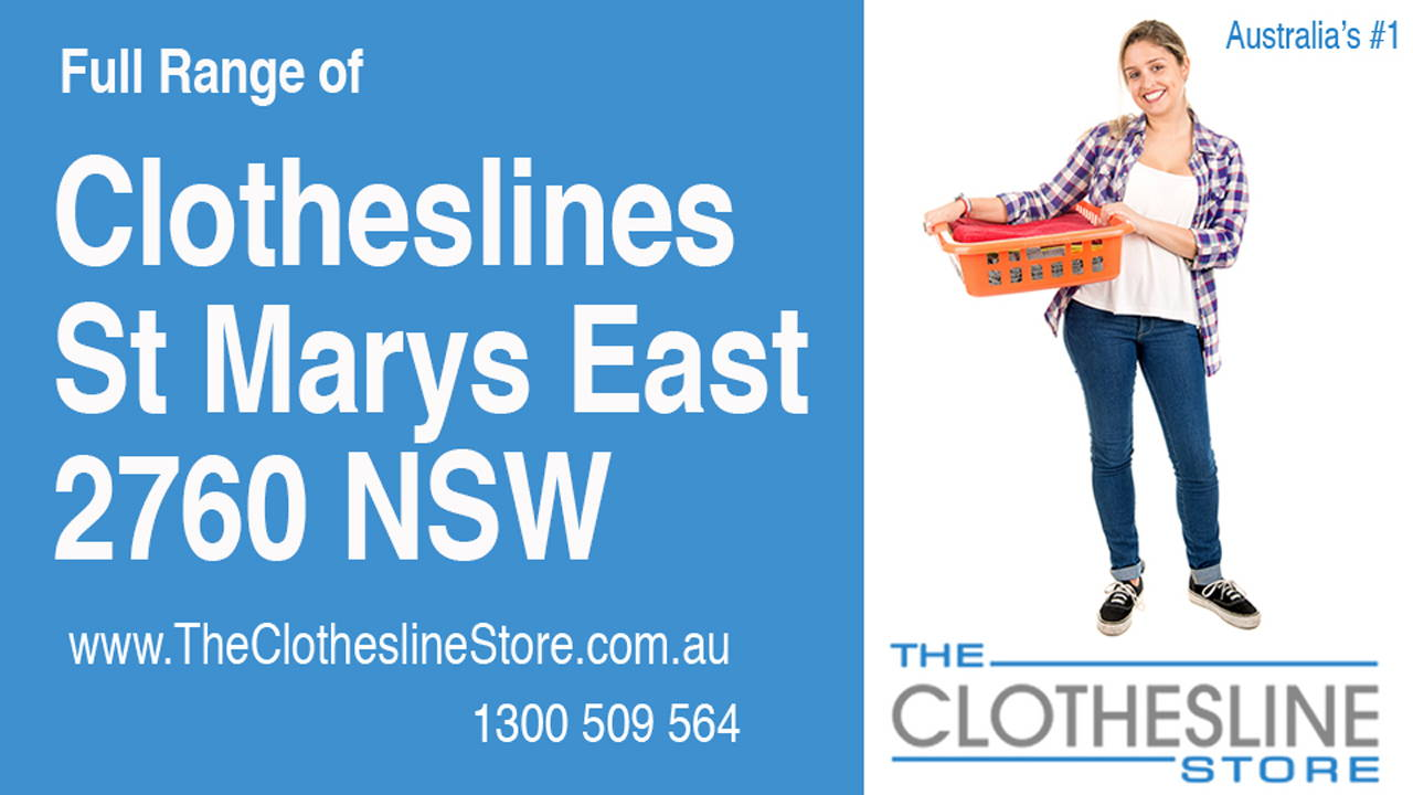 New Clotheslines in St Marys East 2760 NSW