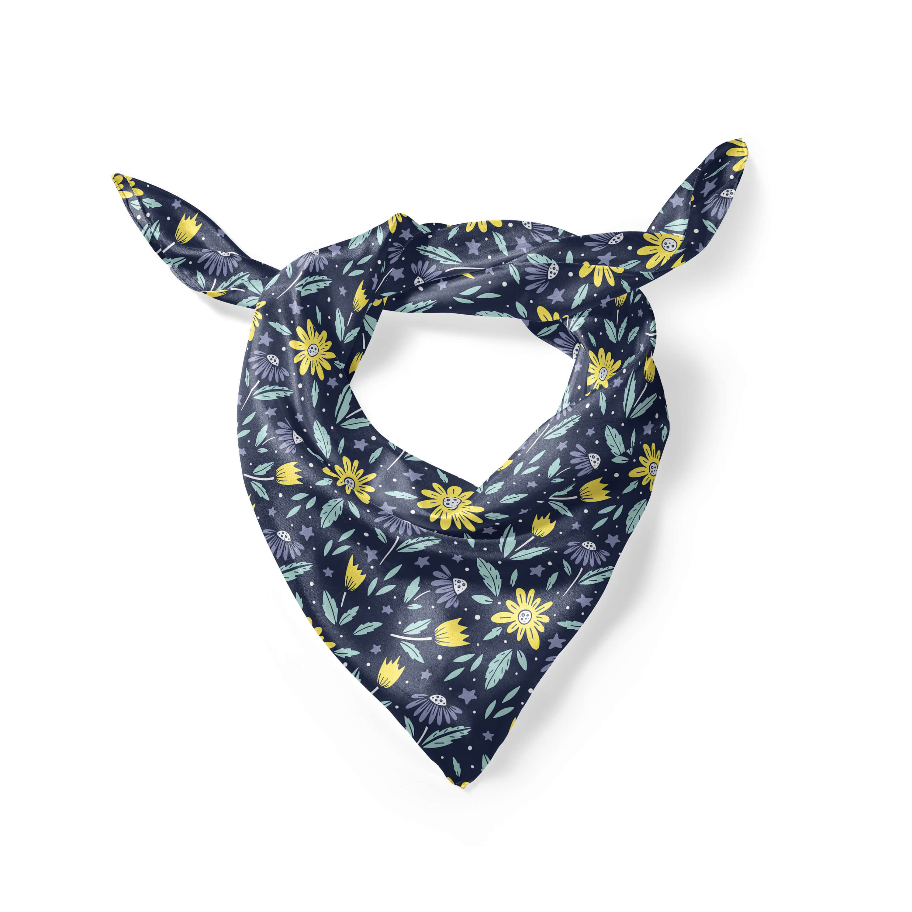 Banana Bandanas Moonflower overripe dog bandana folded photo