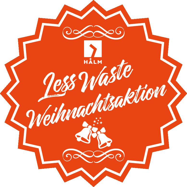 HALM Less  Waste Weihnachtsaktion Gewinnspiel Nachhaltige Geschenkideen Glas Strohhalme