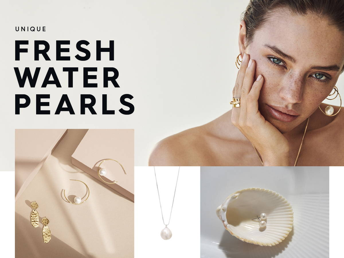 Unique fresh water pearls