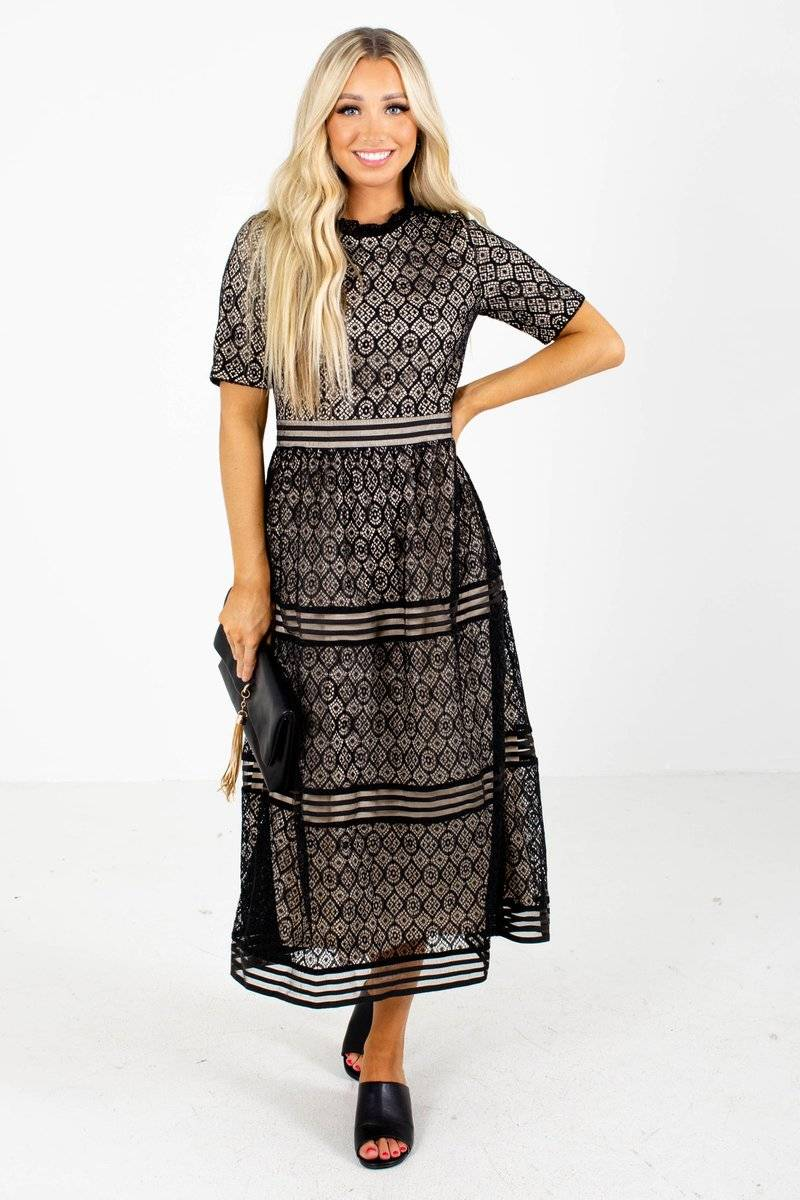 Waiting For This Moment Midi Dress From Bella Ella Boutique