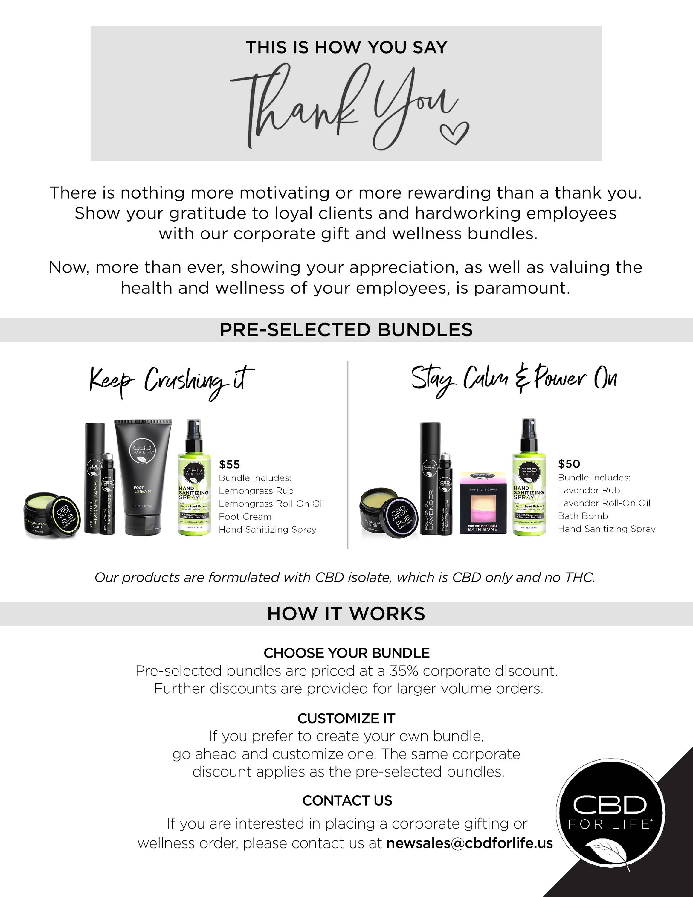 cbd for life corporate gifting and wellness bundles