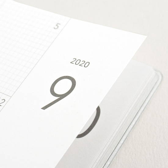 220gsm paper - Eedendesign 2020 Hello month B5 dated monthly planner