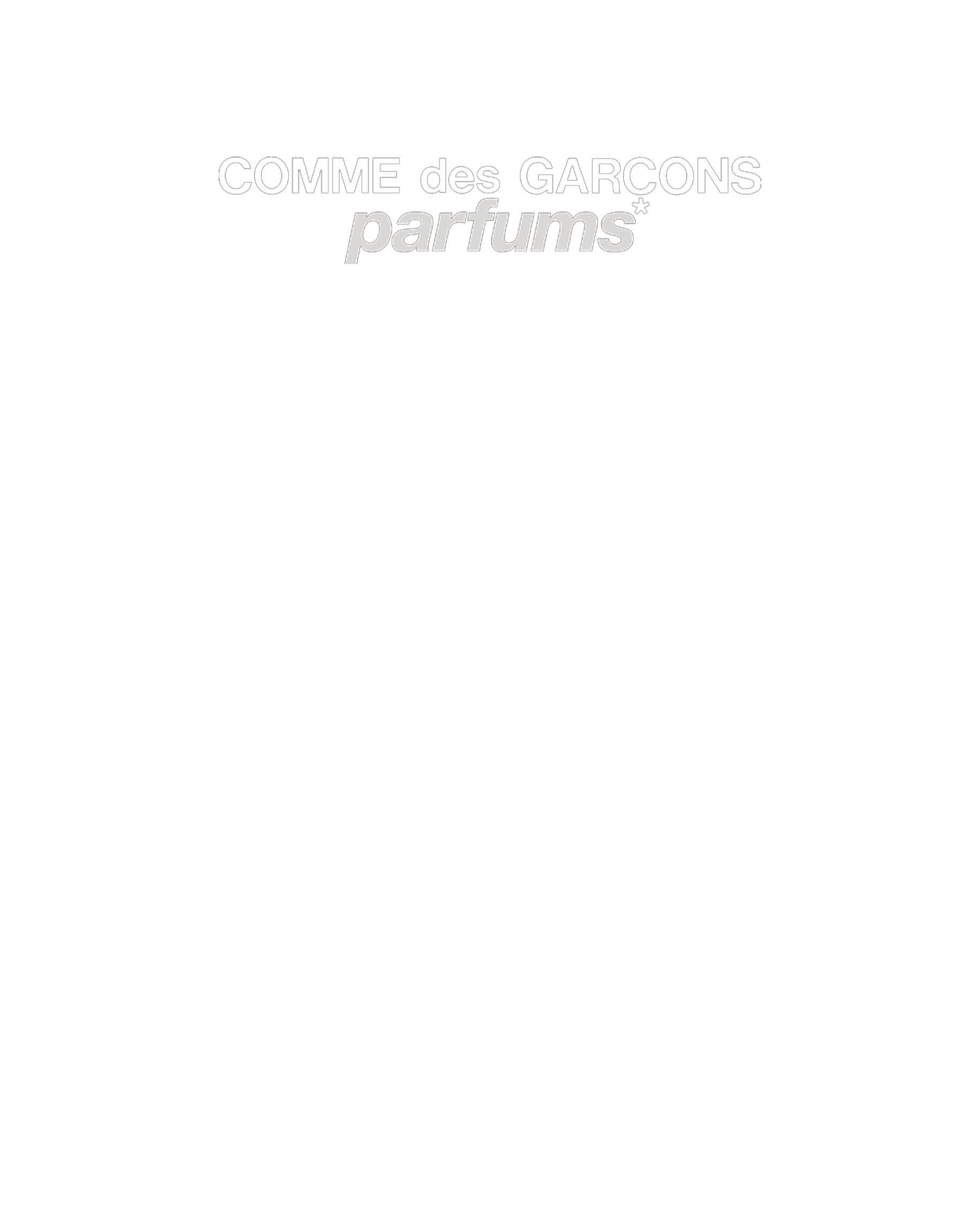 Comme des Garcons Perfume FW18 - Hlorenzo