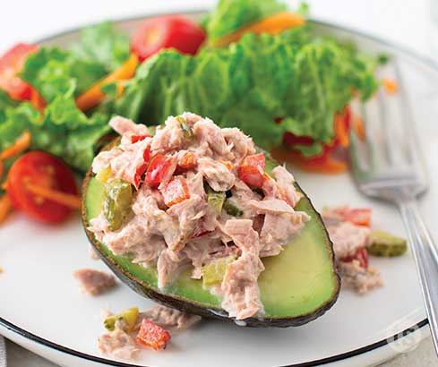 tuna salad avocado boats