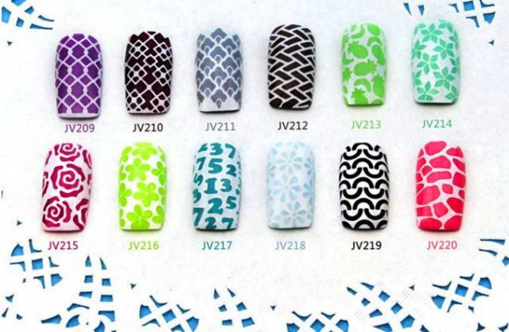 pochoirs pour ongles vernis