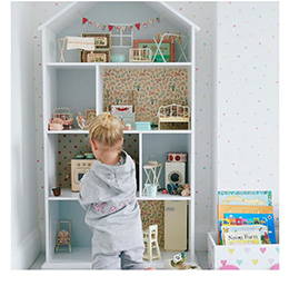 grey doll's house bookcase