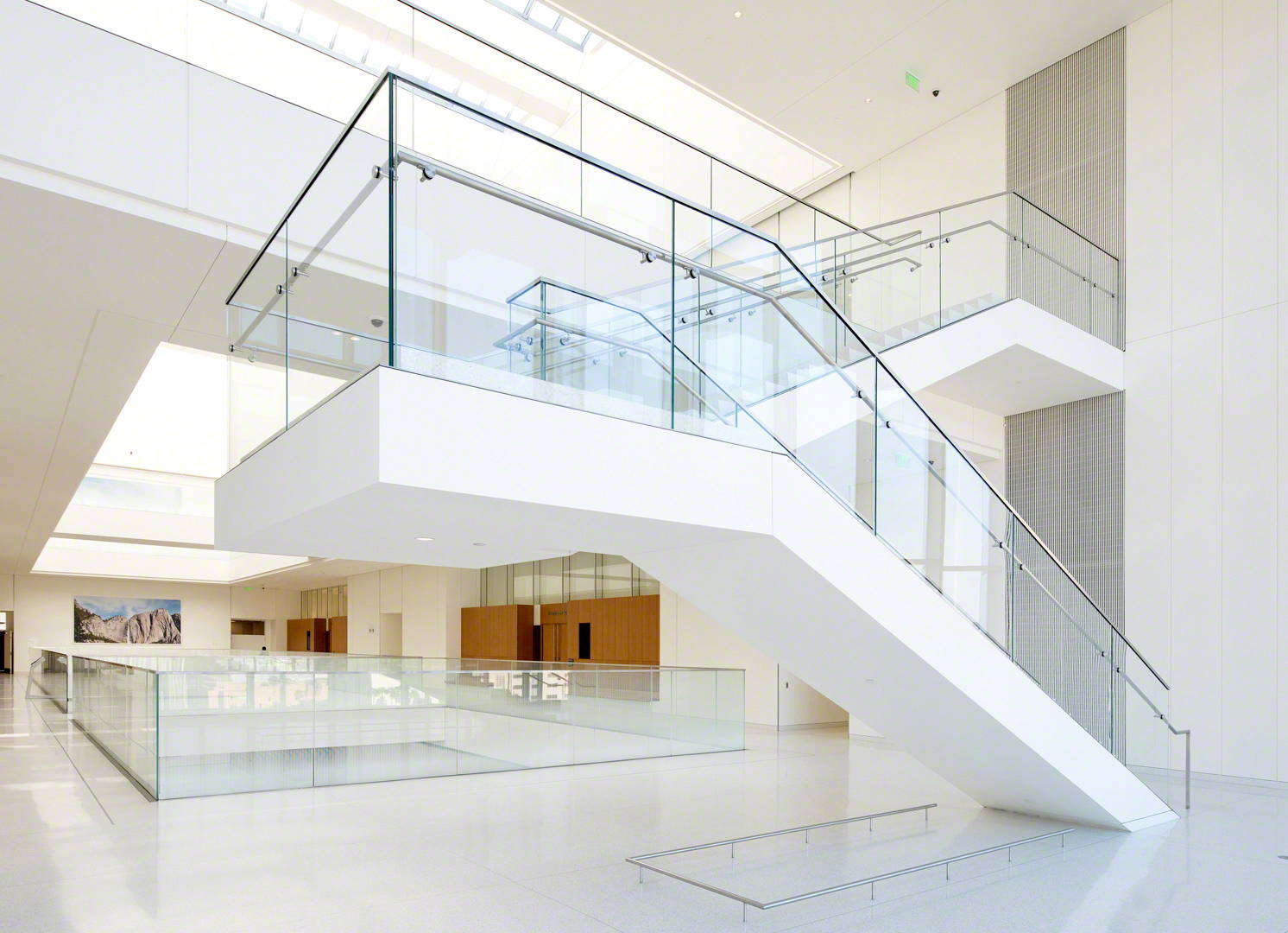 Commercial glass handrails