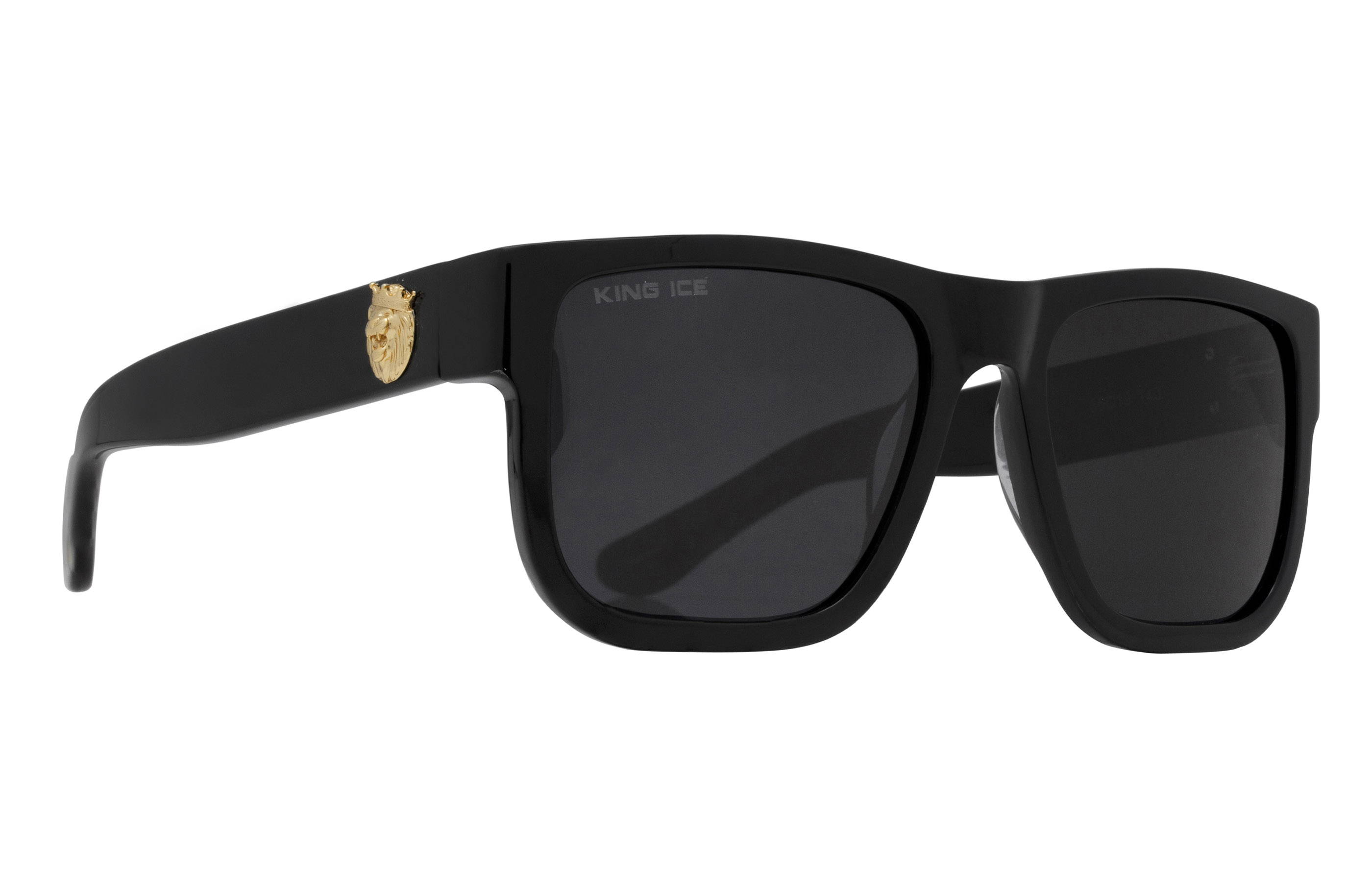 King Ice Lion Head Shades with Glossy Black Frame