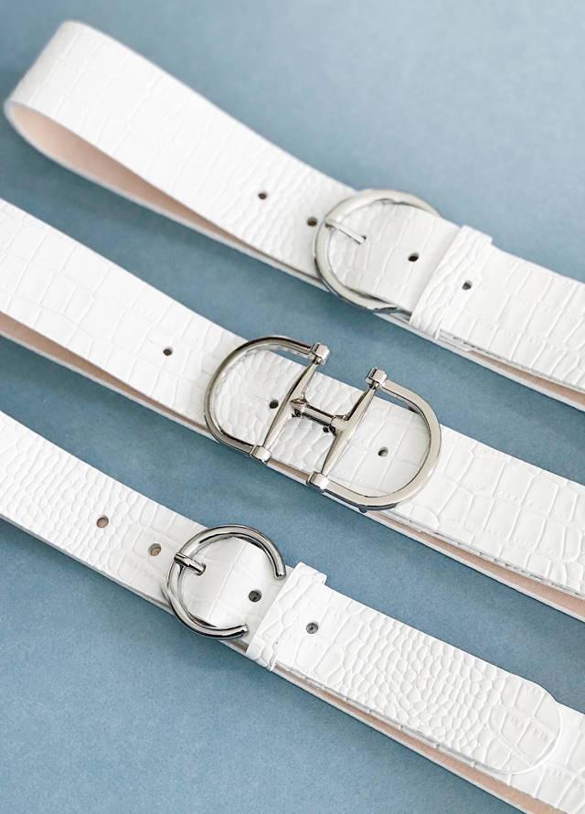 White Barcelona Belts