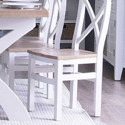 White & Oak Painted Dining Collection