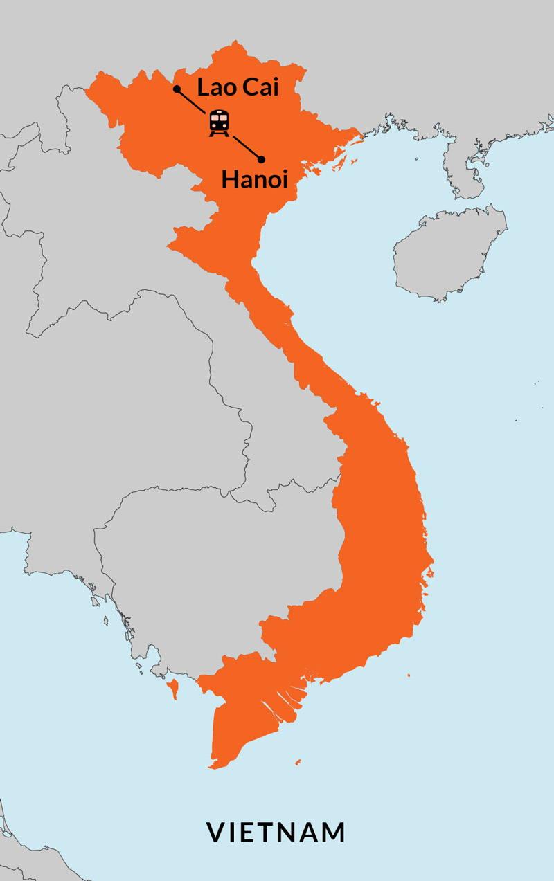 Travelbay Vietnam Tours - 3 Day Sapa Map
