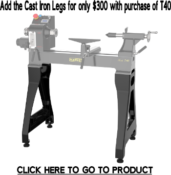 TURBO T40 Wood Lathe (stand not included) | Harvey Tools