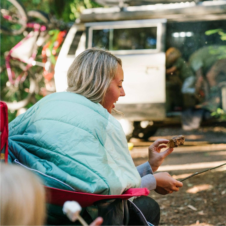 Rumpl Cascade Fade camping blanket